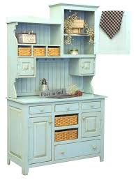 Kitchen Hutches Buffets White Country Hutch Farm House Pantry Cupboard Wood Primitive Furniture