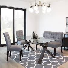 Ksp Kona Rectangle Glass Dining Table Walnut Kitchen Stuff Plus With Oven 5 X 3 Tile