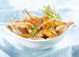 cuisiner les cuisses de grenouilles cuisses de grenouilles coupe droite surgelé gamme poissons