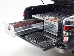 100 Truck Bed Storage Drawers Twin Drawer Aluminium PickUp System 4x4 Accessories