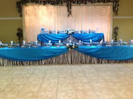 Quinceanera Decorations For Hall by Main Tables In Turquoise And Silver For A Quinceanera At Villa