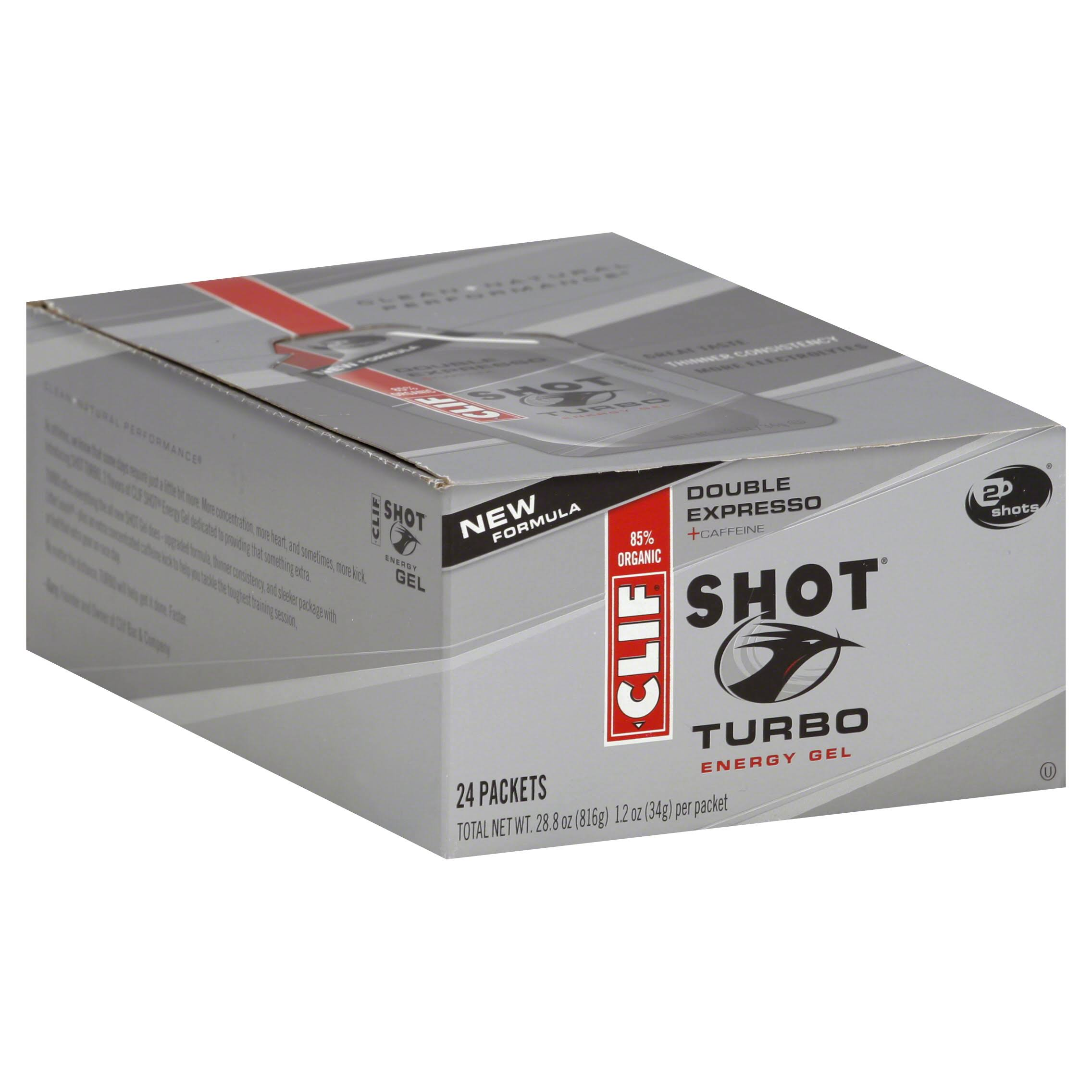 Clif Shot Turbo Energy Gel - Double Espresso