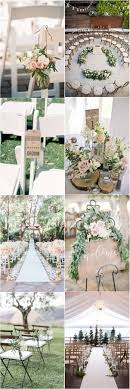 Country Weddings  25 Rustic Outdoor Wedding Ceremony Decorations