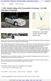 "Could A ""1991 Dodge Shelby CSX Convertible"" Pull $11,500? Houston Craigslist Cars And Trucks Image 2018 Muncie Indiana Used And For Sale By Owner Tampa Area Food Bay Car Buying Scams By Part 1 Cffeethanh Los Angeles California Perfect No With Crapshoot Hooniverse New Dodge Chrysler Jeep Ram In St Louis Mo All Star Pa Food Truck For Sale Craigslist Google Search Mobile Love Latest Craiglist Best Posting Tool On The Market Automoxie"