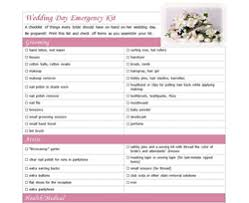 Printable Wedding Day Checklist Unveiled As Part Of The New Line Items At ChecklistTemplate