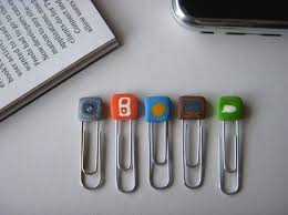 IPhone Paper Clip Bookmarks