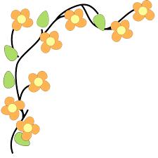 Flower Corner Border Clipart