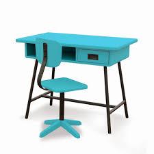 bureau chaise enfant de bureau bleu ciel