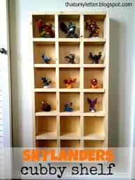 ana white skylanders cubby storage shelf diy projects