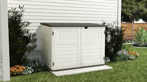 Rubbermaid Slide Lid Shed Manual by Suncast Bms4700 Stowaway Horizontal Shed Youtube