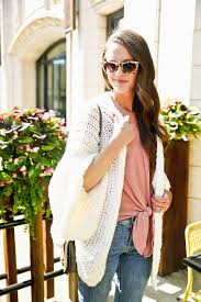 Cute Fall Outfit Ideas White Cardigan Sweater On Jess Of The Golden Girl Blog