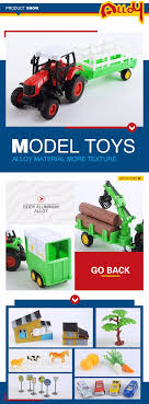 100 Model Toy Trucks Kids Game Pulling Set Farm 143 Diecast Tractor