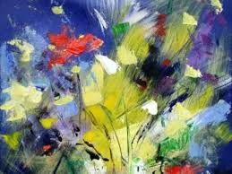 Abstract Flower And Landscape Painting Of Mario Zampedroni