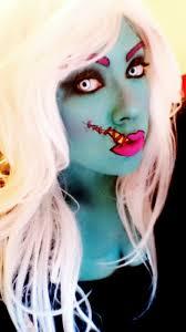 Halloween Contacts No Prescription Needed by Cartoon Zombie Makeup Tutorial Halloween Pinterest Zombie