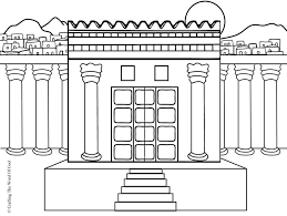 Temple Bible Coloring Pages