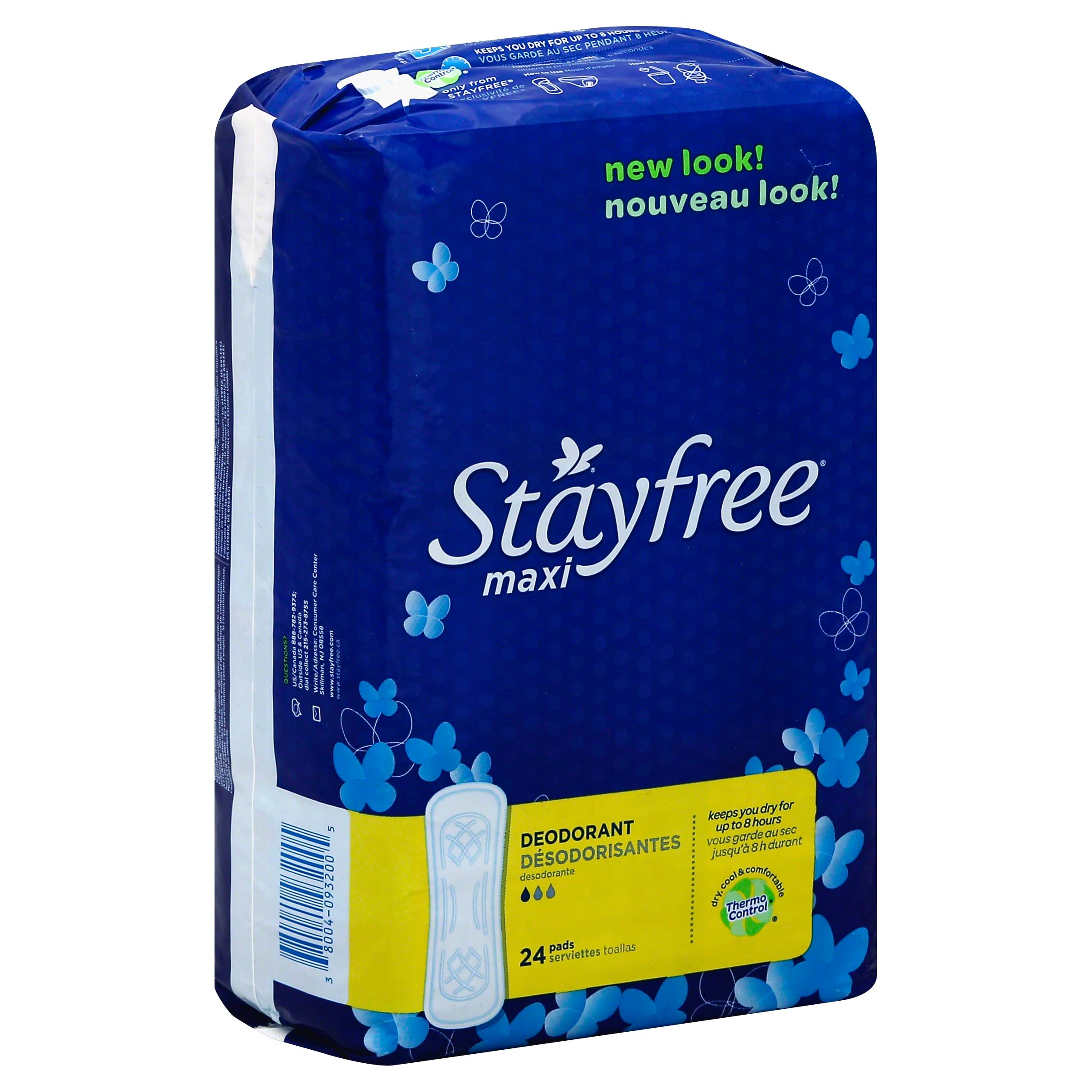Stayfree Maxi Pads Regular Absorbency Deodorant Panty Liners - 24ct