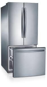 Counter Depth Refrigerator Dimensions Sears by Samsung Rf220nctasr 22 Cu Ft French Door Refrigerator