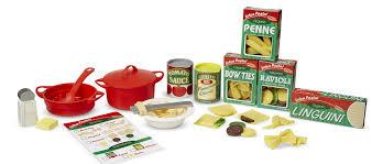 Wayfair Play Kitchen Sets by Melissa U0026 Doug 58 Piece Perfect Pasta Play Set U0026 Reviews Wayfair