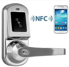 Android smart NFC door lock in Control Card Readers from Security