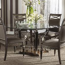 5 Piece Dining Room Set Under 200 by Round Glass Dining Table With Wooden Base Starrkingschool