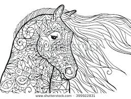 Horse Coloring Pages For Adults 7 Realistic Jumping