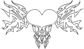 Heart Coloring Pages Printable Wings Hearts And Flowers For Adults