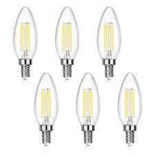 shine hai candelabra led filament bulbs 40w equivalent 5000k