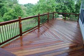 Metal Deck Skirting Ideas by Metal Porch Railing Ipe Deck And Railing With Aluminum Balusters