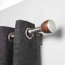Jcpenney Curtain Rod Finials by Amazon Com Umbra Guthrie 1 Inch Drapery Rod For Window 72 To 144