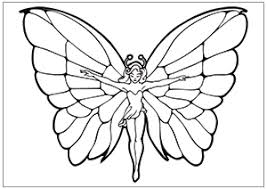 Butterfly Fairy Sketch For Coloring