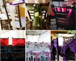 ruban pour noeud de chaise décoration de chaise de mariage