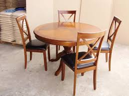 Round Dining Room Set For 4 by Round Oak Table With 4 Chairs Round Designs