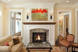 Houzz Fireplace Mantels Living Room Traditional With Mantle Contemporary Paintings