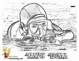 Bold Bossy Military Coloring Page