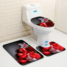 badewanne matten 3 stücke badezimmer mat set rote romantische happy valentinstag bad matten bad set banyo paspas takimlari