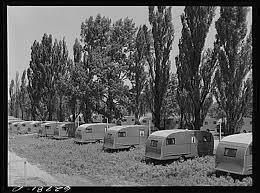 FSA Farm Security Administration Trailer Camp For Defense Workers A Quarter Mile From General