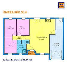 maison plain pied 2 chambres plan maison plein pied 2 chambres 81 24 m ev planı