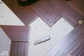 Laundry Room Herringbone Pattern Tile Floor Details