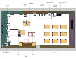 Layout With Floor Woodworking Shop Design Plans Beautiful Uncategorized Plan Perky Nice