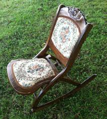 Vtg Wood FOLDING ROCKING CHAIR Tapestry Sewing Nursery ... Antique Folding Oak Wooden Rocking Nursing Chair Vintage Tapestry Seat In East End Glasgow Gumtree Britain Antique Rocking Chair Folding Type Wooden Purity Beautiful Art Deco Era Woodenslatted Armless Elegant Sewing Side View Isolated On White Victorian La20276 Loveantiquescom Rocksewing W Childs Upholstered Solid Wood And Fniture Of America Betty San Francisco 49ers Canvas Original Box