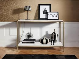 leonique konsolentisch cherlen mit zwei ablageflächen und goldfarbenem metallgestell kaufen otto