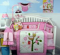 Amazon SoHo Owl Tree Party Baby Crib Nursery Bedding Set
