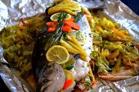 comment cuisiner un saumon entier saumon farci aux petits légumes petits plats entre amis
