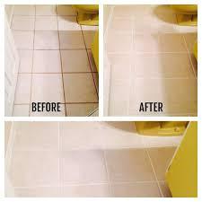 how to clean bathroom floor tile grout