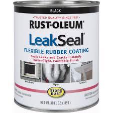 Rust Oleum Decorative Concrete Coating Applicator by Rust Oleum 30 Oz Black Leakseal Flexible Rubber Coating 271791