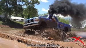 POWERFUL Rolling Coal Trucks ATTACK The Louisiana Mud