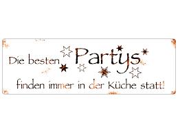 blechschild metallschild türschild die besten partys finden in der kü