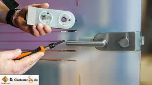 glastür einbauen ganzglastürbänder einstellen glastür