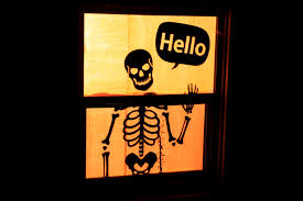 Halloween Door Decorations Pinterest by Window Decorations For Halloween Easy Ghost Silhouettes For