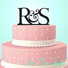 Letters Cake Toppers Wedding Cakes With Monogram Letter H Crystal Custom Topper Initial For Rustic